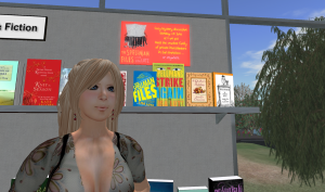 Spellmans display at Metaverse Books